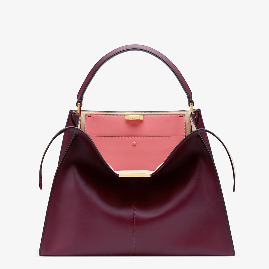 FENDI PEEKABOO X-LITE LARGE - Burgundy leather bag - view 1 detail