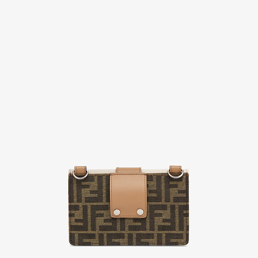 FENDI BAGUETTE POUCH - Brown fabric bag - view 3 detail