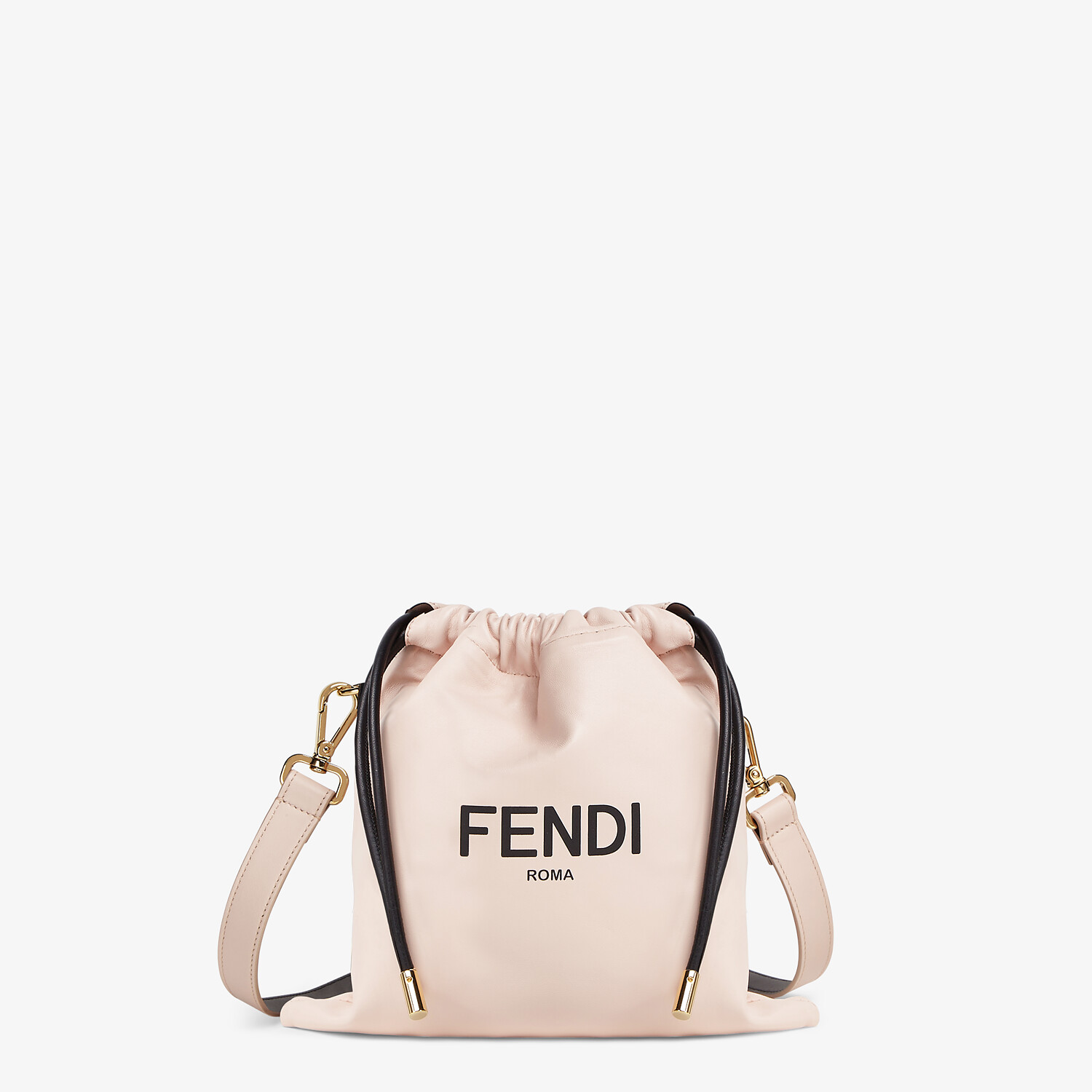 FENDI FENDI PACK SMALL POUCH - Pink nappa leather bag - view 1 detail