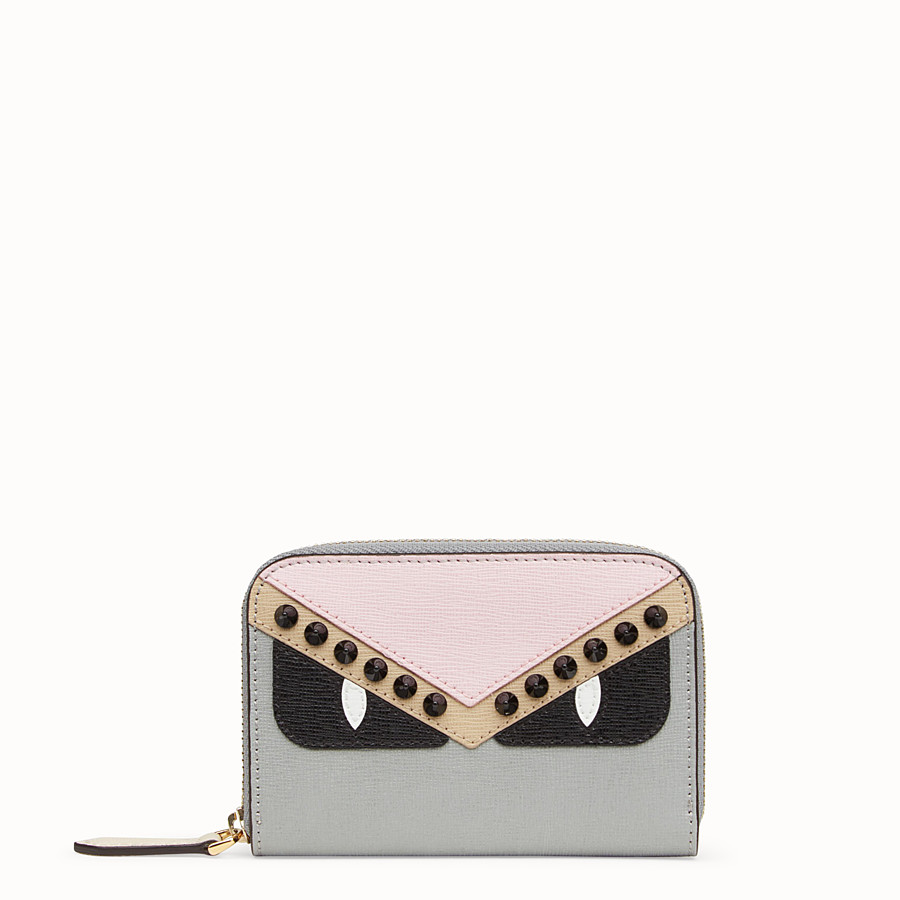 FENDI SMALL ZIP AROUND - Multicolor leather wallet - view 1 detail