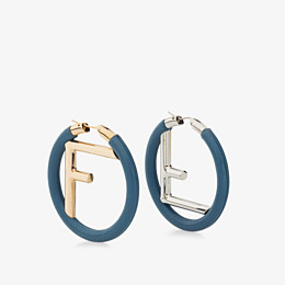 FENDI F IS FENDI EARRINGS - Blue nappa leather earrings - view 1 thumbnail