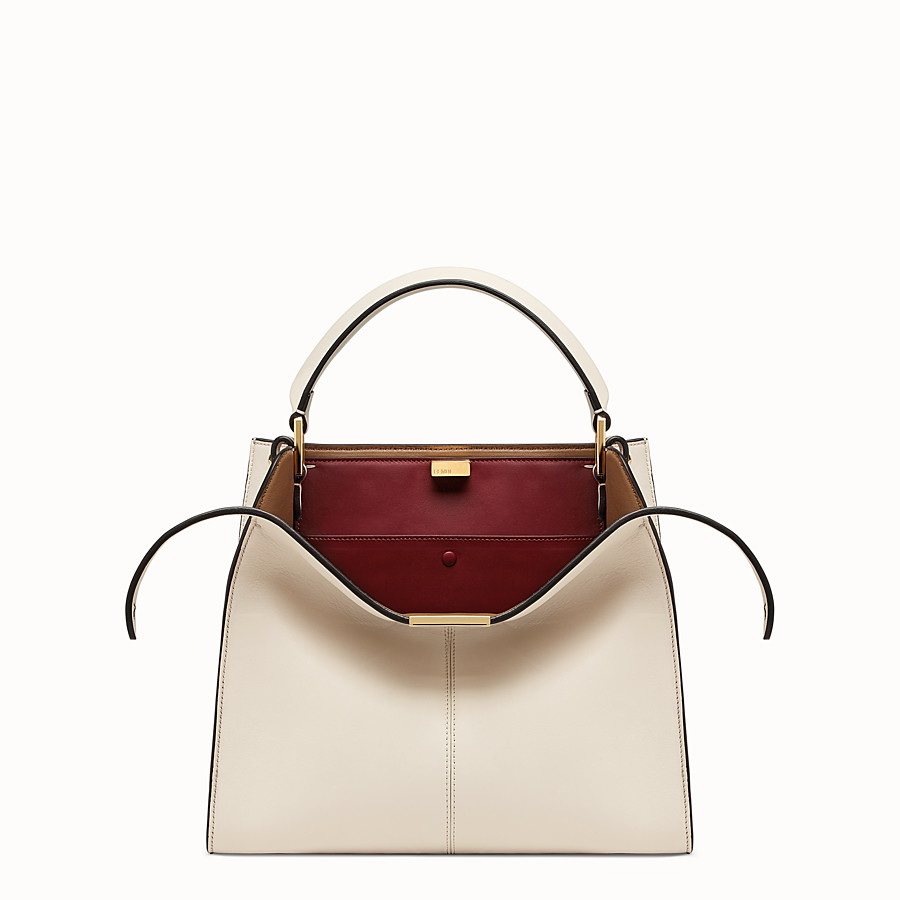FENDI PEEKABOO X-LITE MEDIUM - White leather bag - view 1 detail