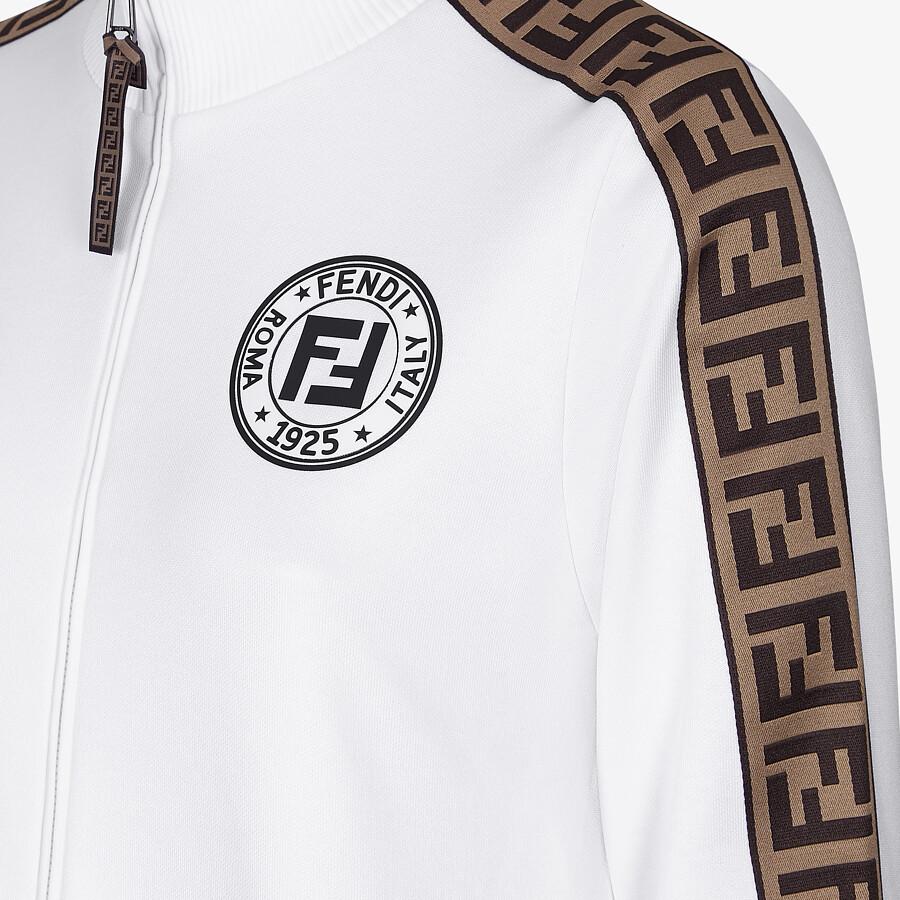 FENDI SWEATSHIRT - White jersey tracksuit sweatshirt - view 3 detail