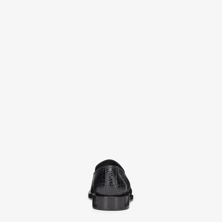 FENDI LOAFERS - Black leather loafers - view 3 detail