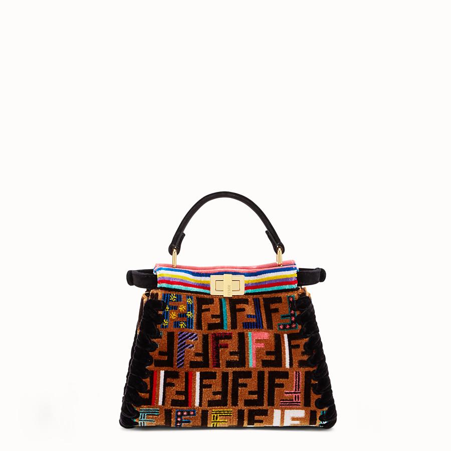 FENDI PEEKABOO MINI - 多色布料手袋 - view 3 detail