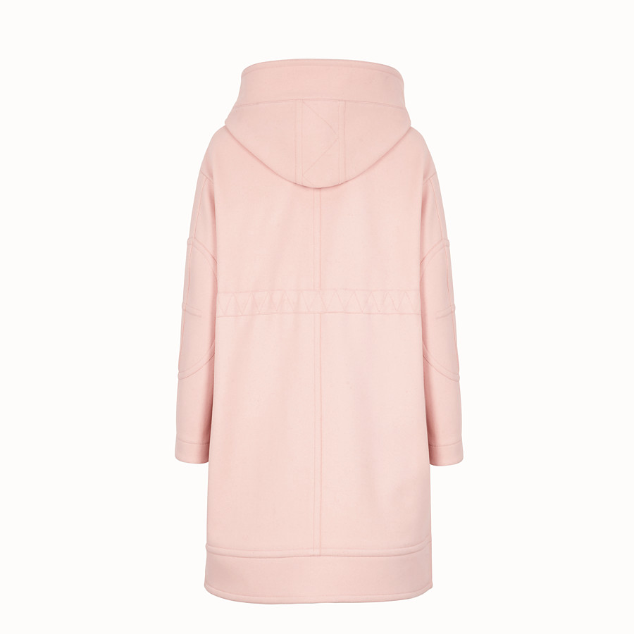 FENDI OVERCOAT - Pink wool parka - view 2 detail