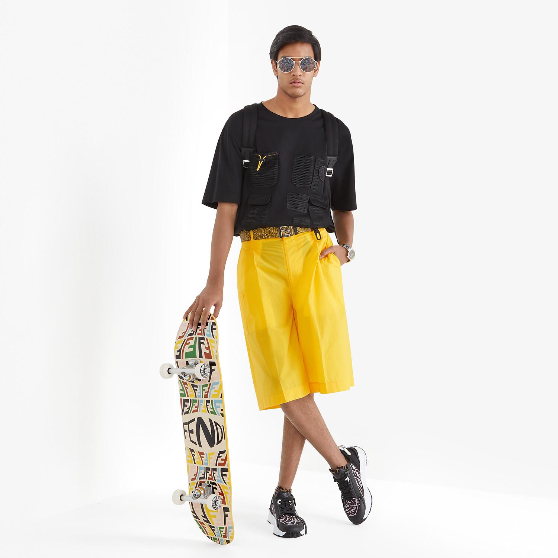 FENDI T-SHIRT - Black cotton T-shirt - view 4 detail