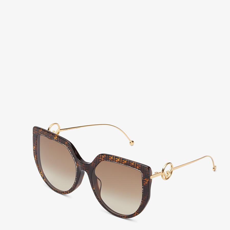 FENDI F IS FENDI - Gafas de sol de acetato havana FF y metal - view 2 detail