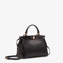 FENDI PEEKABOO ICONIC MINI - Black leather bag - view 2 thumbnail