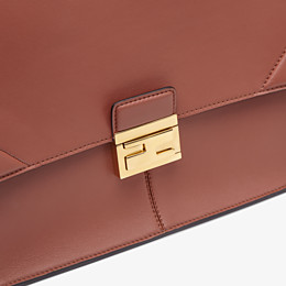 FENDI KAN U LARGE - Red leather bag - view 6 thumbnail