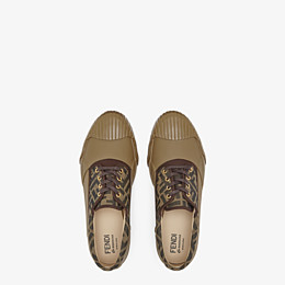 FENDI FENDI AND MOONSTAR SNEAKERS - Multicolour canvas and rubber low-tops - view 4 thumbnail