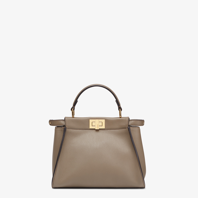 FENDI PEEKABOO MINI - Grey leather bag - view 1 detail