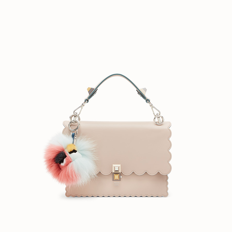 FENDI BLUEMINOUS BAG BUG - Multicolour fur charm - view 2 detail