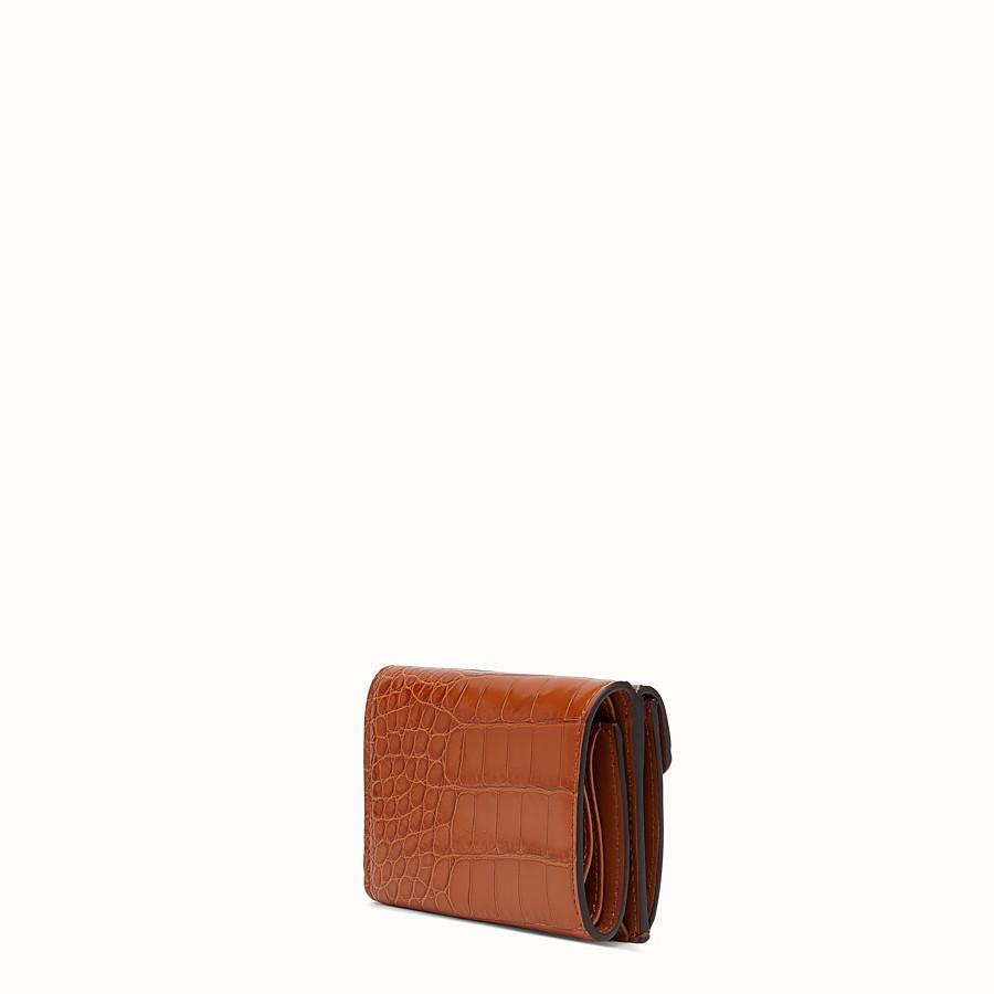 FENDI MICRO TRIFOLD - Brown alligator wallet - view 2 detail