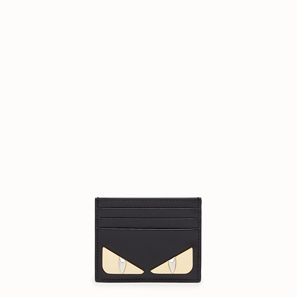 FENDI CARD HOLDER - Black leather flat card holder - view 1 small thumbnail