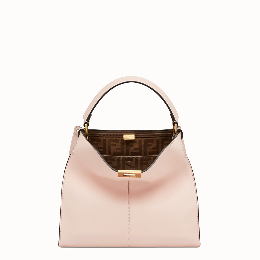 FENDI PEEKABOO X-LITE REGULAR - Pink leather bag - view 2 detail