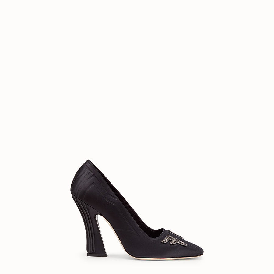 FENDI COURT SHOES - Court shoes in black satin - view 1 detail