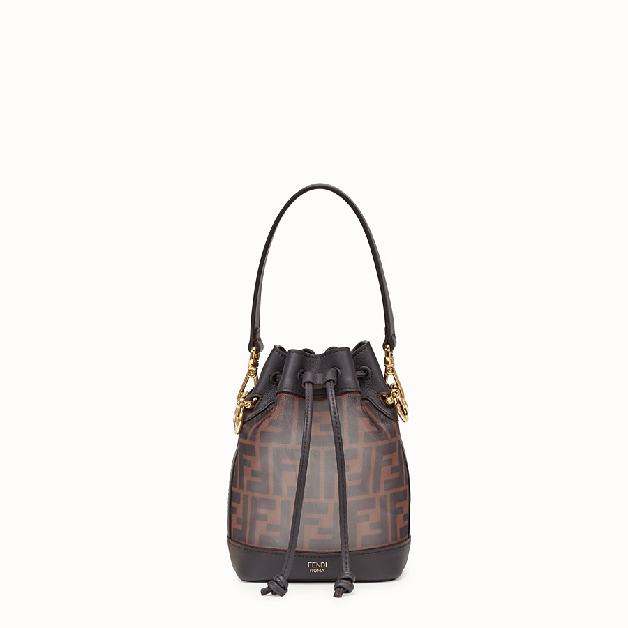 FENDI MON TRESOR - Brown tech mesh mini bag - view 1 detail