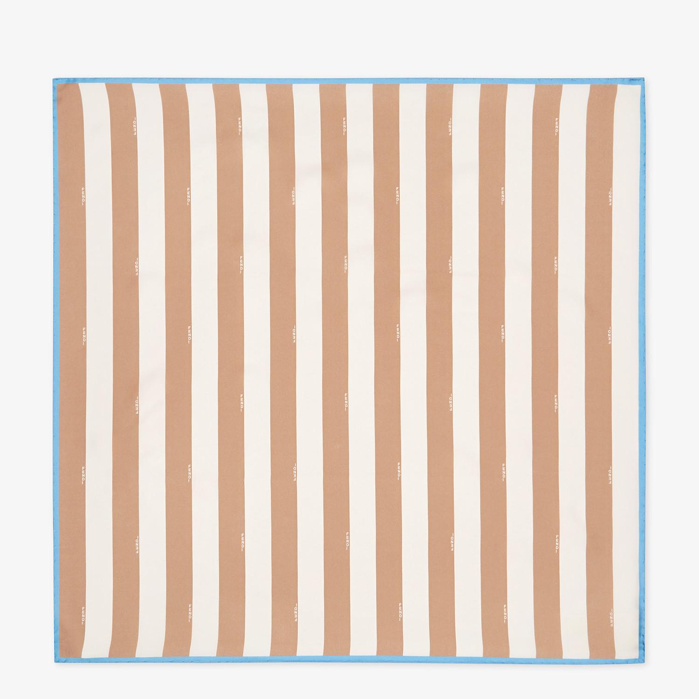 FENDI PEQUIN FOULARD - Beige silk foulard - view 1 detail