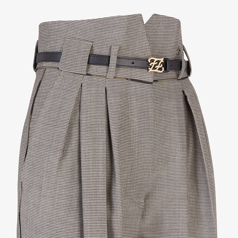 FENDI TROUSERS - Trousers in houndstooth wool - view 3 detail