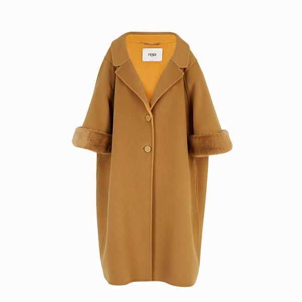 FENDI OVERCOAT - Yellow wool coat - view 1 small thumbnail