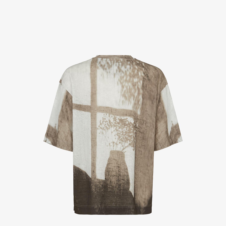 FENDI T-SHIRT - White linen T-shirt - view 2 detail