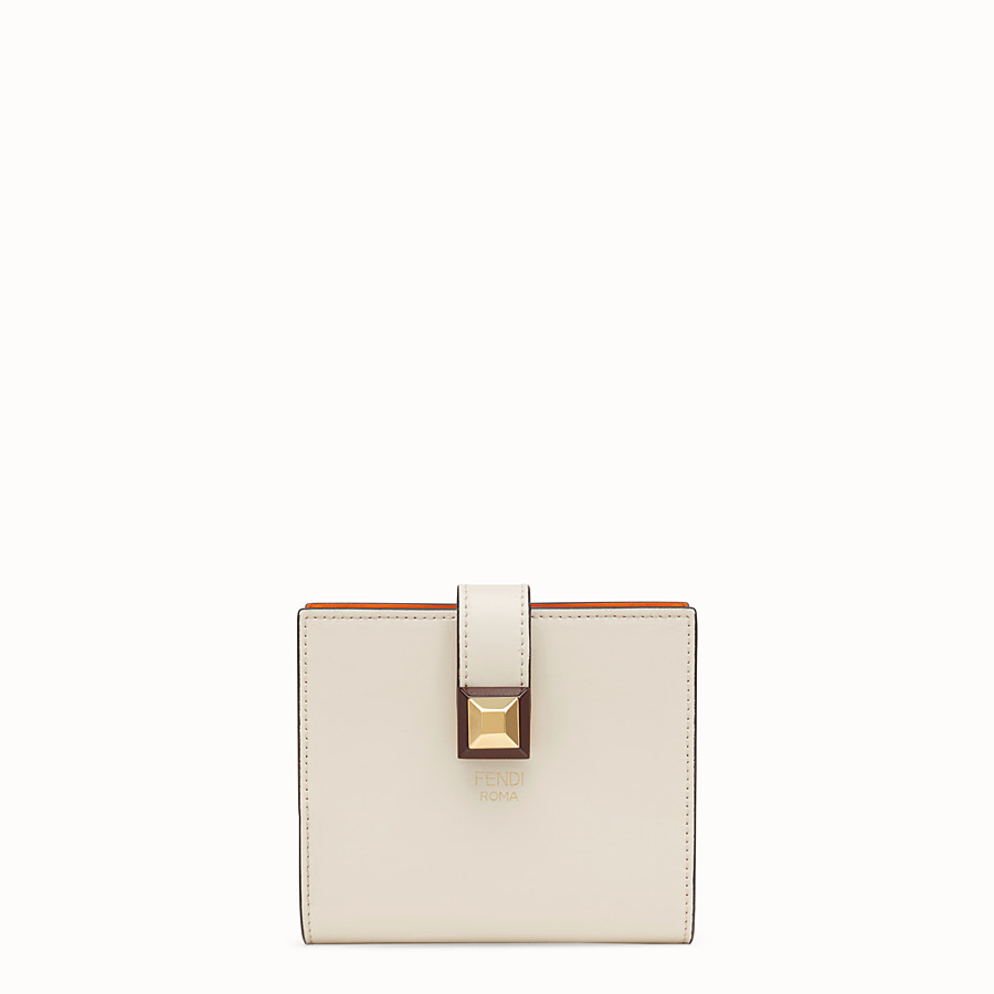 FENDI BIFOLD - White compact leather wallet - view 1 detail