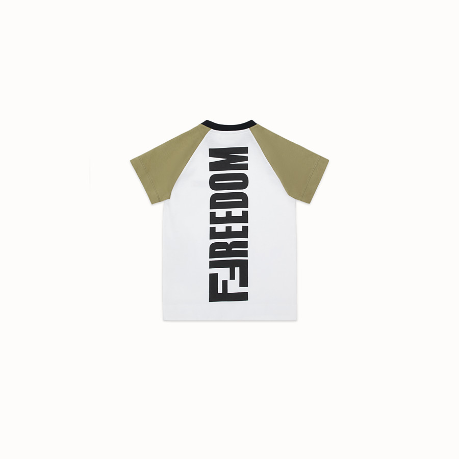 FENDI T-SHIRT - Multicolour jersey T-shirt - view 2 detail