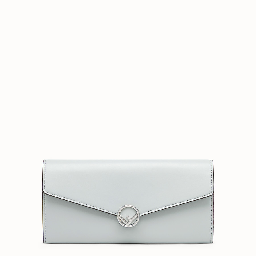 FENDI CONTINENTAL - Gray leather wallet - view 1 detail