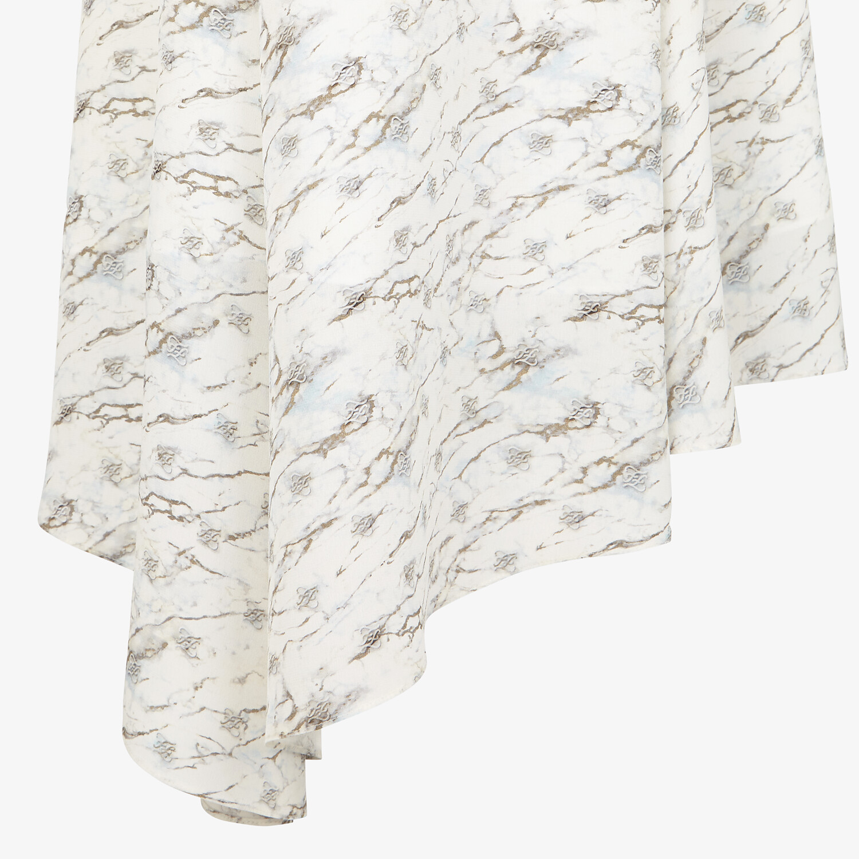 FENDI SKIRT - White silk skirt - view 3 detail