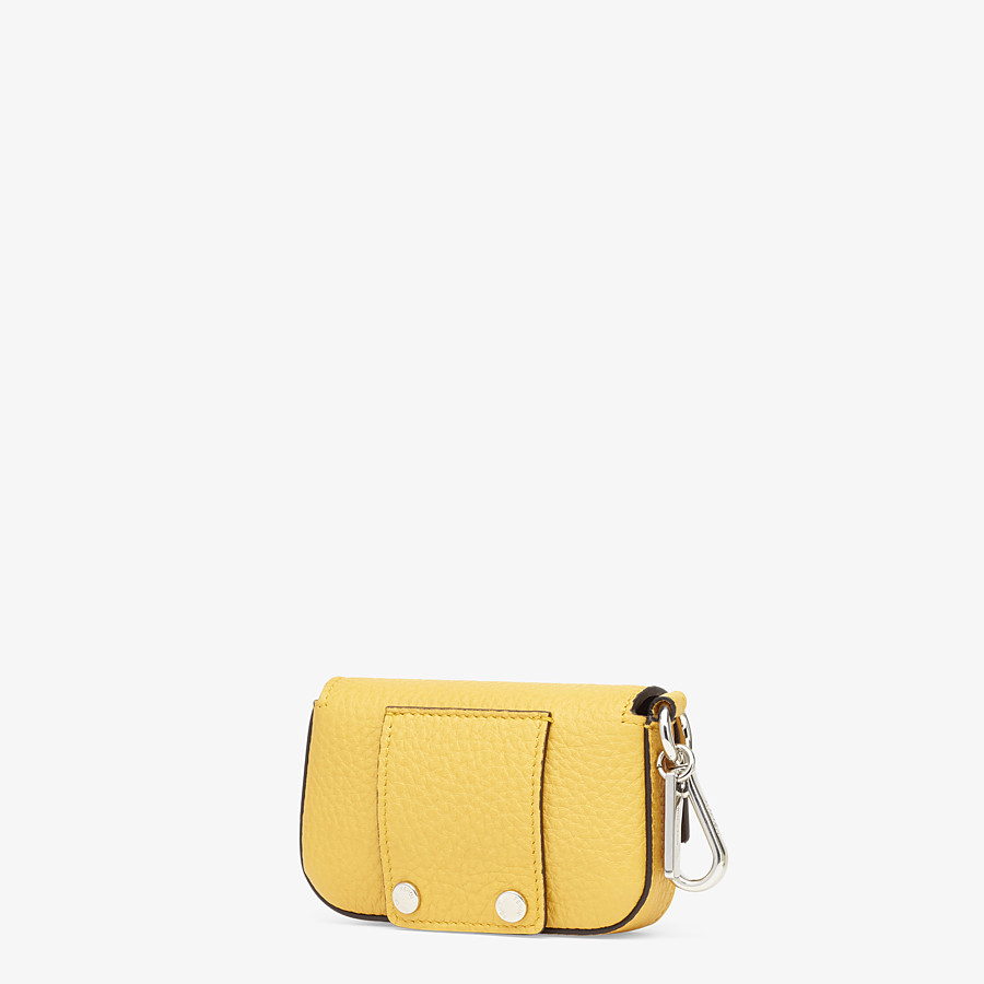 FENDI NANO BAGUETTE CHARM - Yellow leather charm - view 2 detail