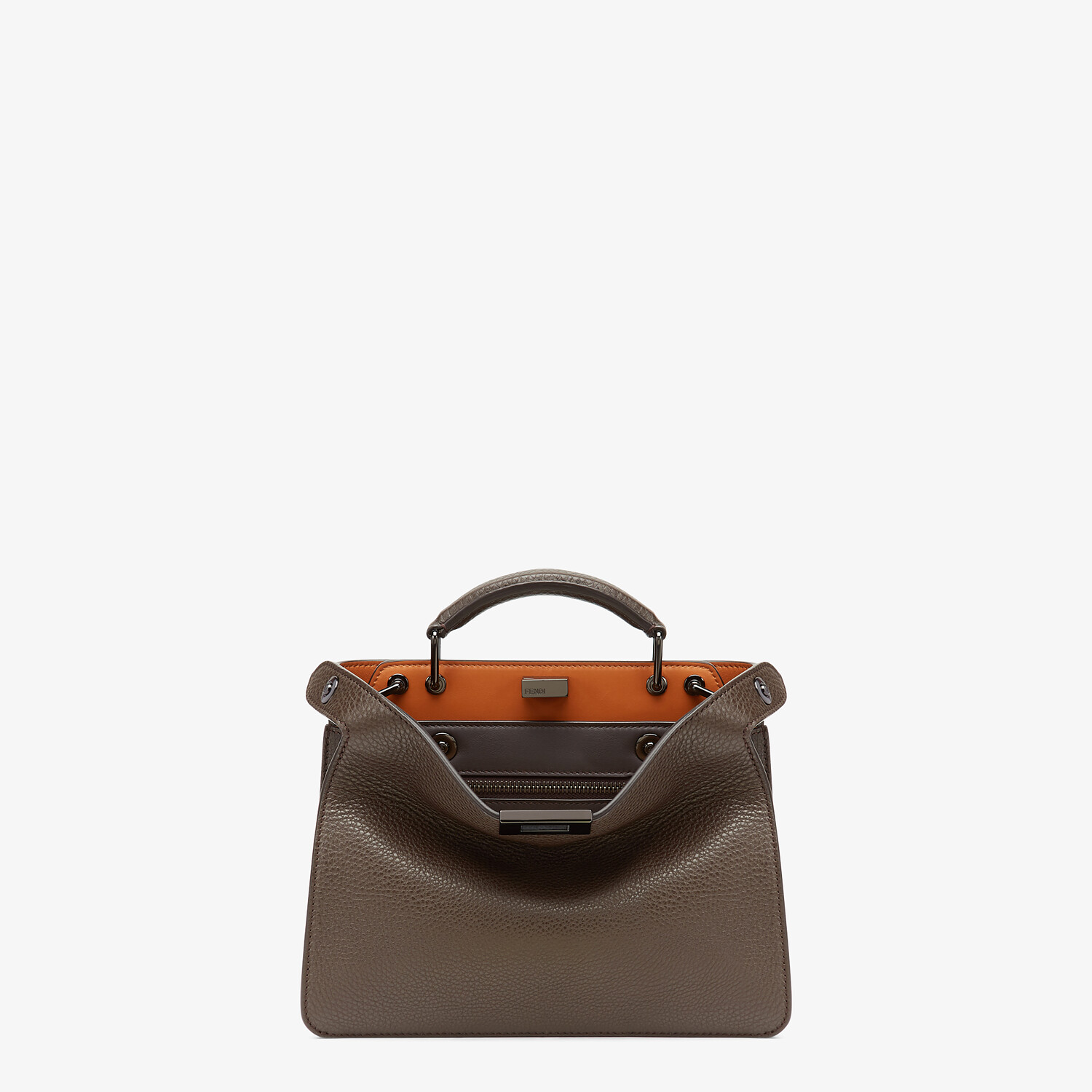 FENDI PEEKABOO ISEEU MINI - Brown leather bag - view 1 detail