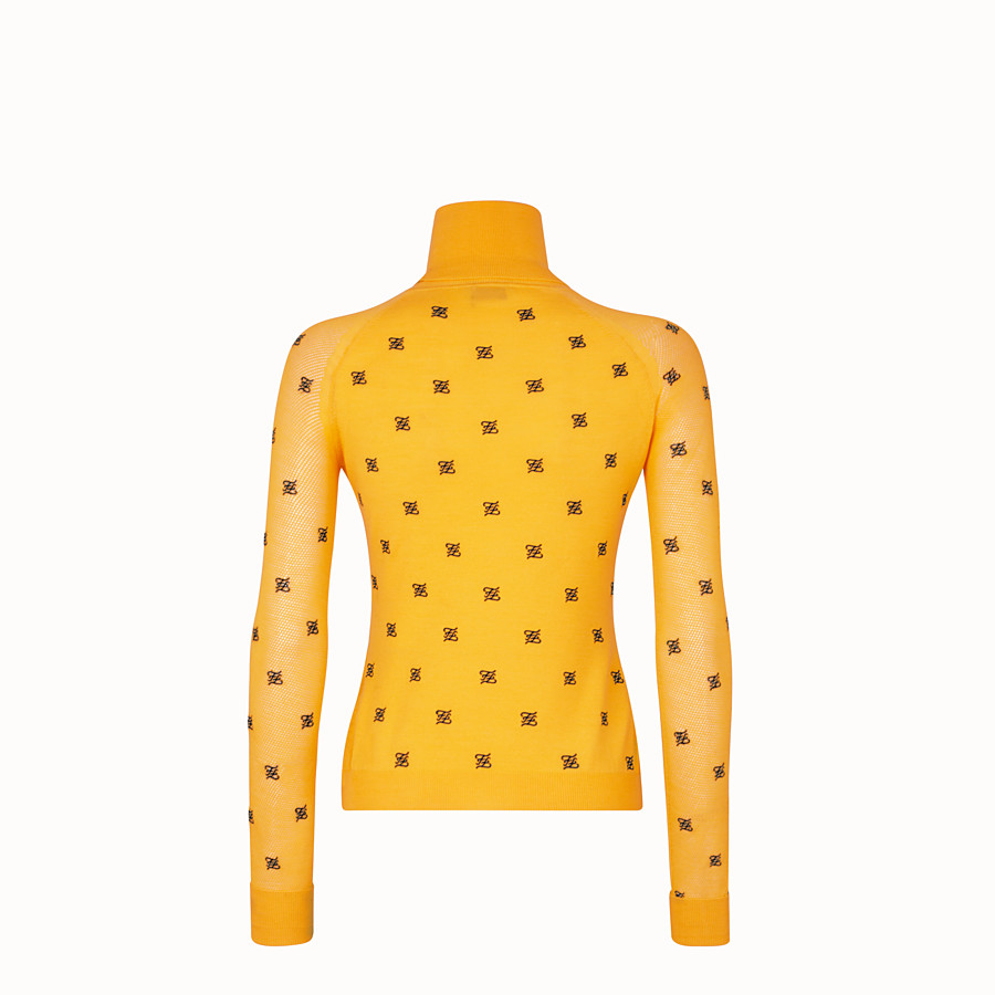 FENDI PULLOVER - Yellow wool and silk jumper - view 2 detail