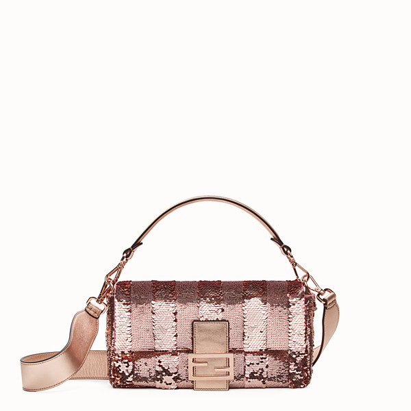 FENDI BAGUETTE - Pink leather bag - view 1 small thumbnail