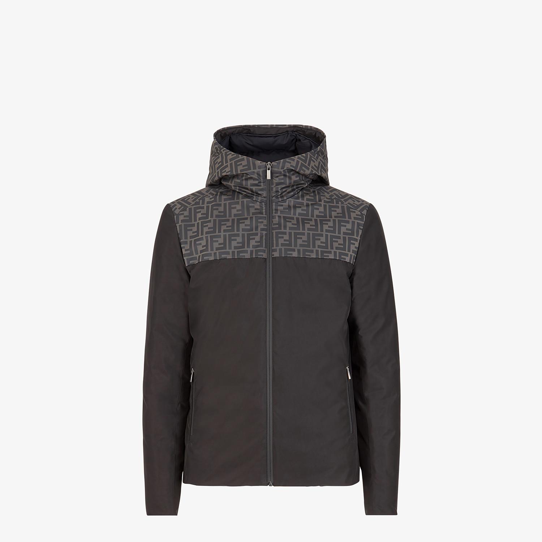 FENDI DOWN JACKET - Black nylon down jacket - view 1 detail