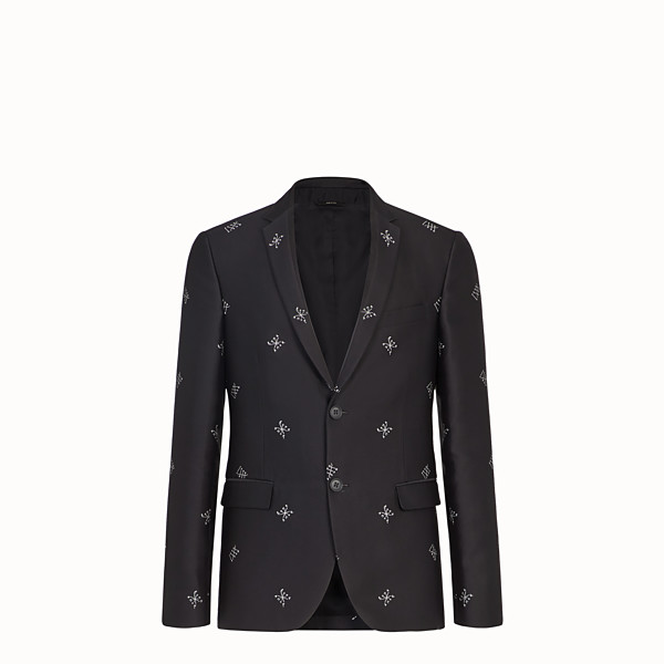 FENDI JACKET - Black silk blazer - view 1 small thumbnail