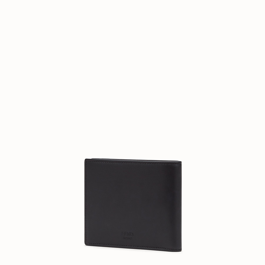 FENDI BI-FOLD WALLET - Black leather bi-fold wallet - view 2 detail