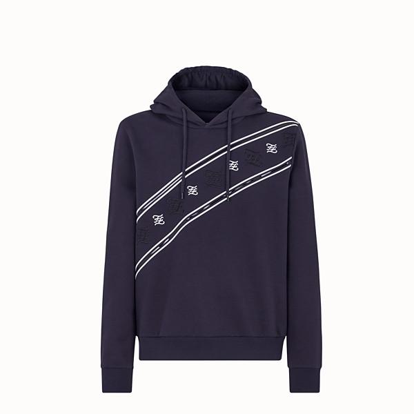 FENDI SWEATSHIRT - Blue jersey sweatshirt - view 1 small thumbnail