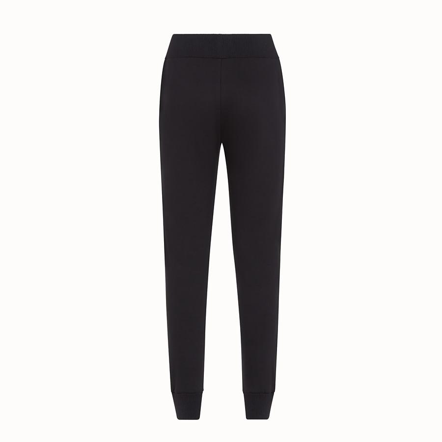 FENDI TROUSERS - Black fabric jogging trousers - view 2 detail