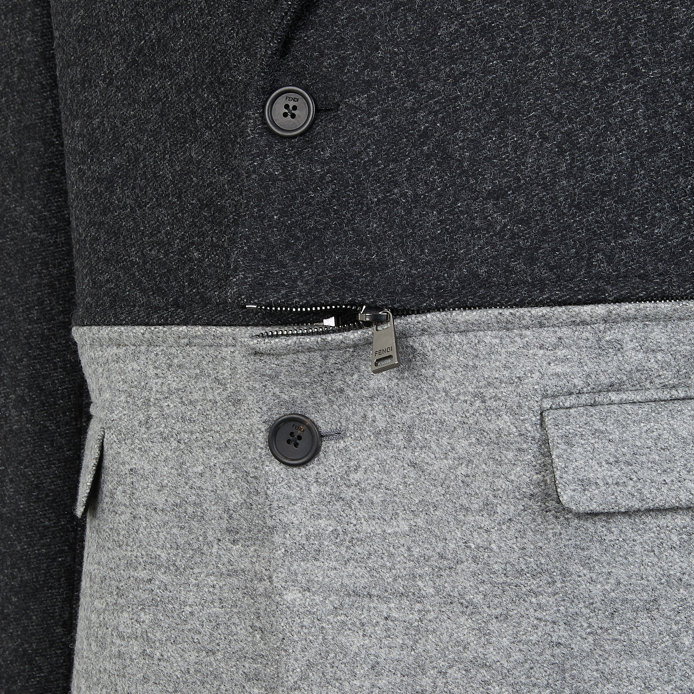FENDI JACKET - Gray wool flannel blazer - view 3 detail