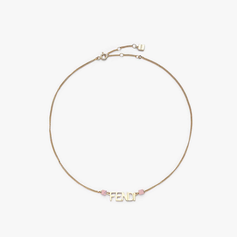 FENDI COLLANA SIGNATURE - Collana color oro - vista 1 dettaglio