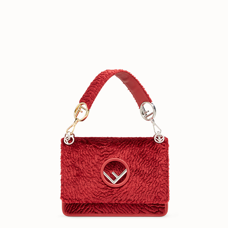 FENDI KAN I F - Red velvet bag - view 1 detail