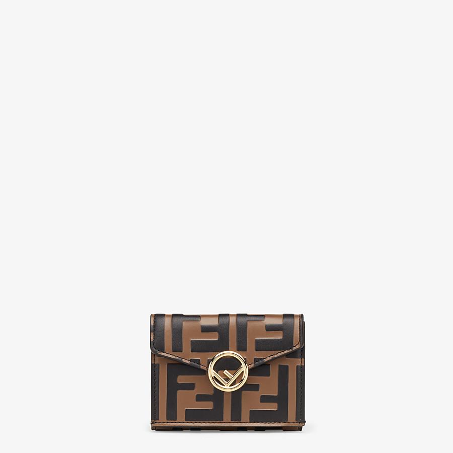 FENDI MICRO TRIFOLD - Brown leather wallet - view 1 detail
