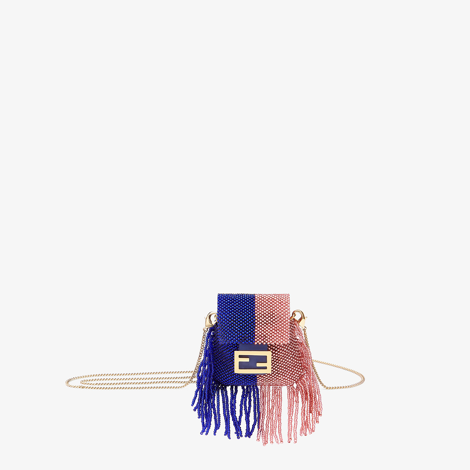 FENDI PICO BAGUETTE CHARM - Charm with blue beads - view 1 detail