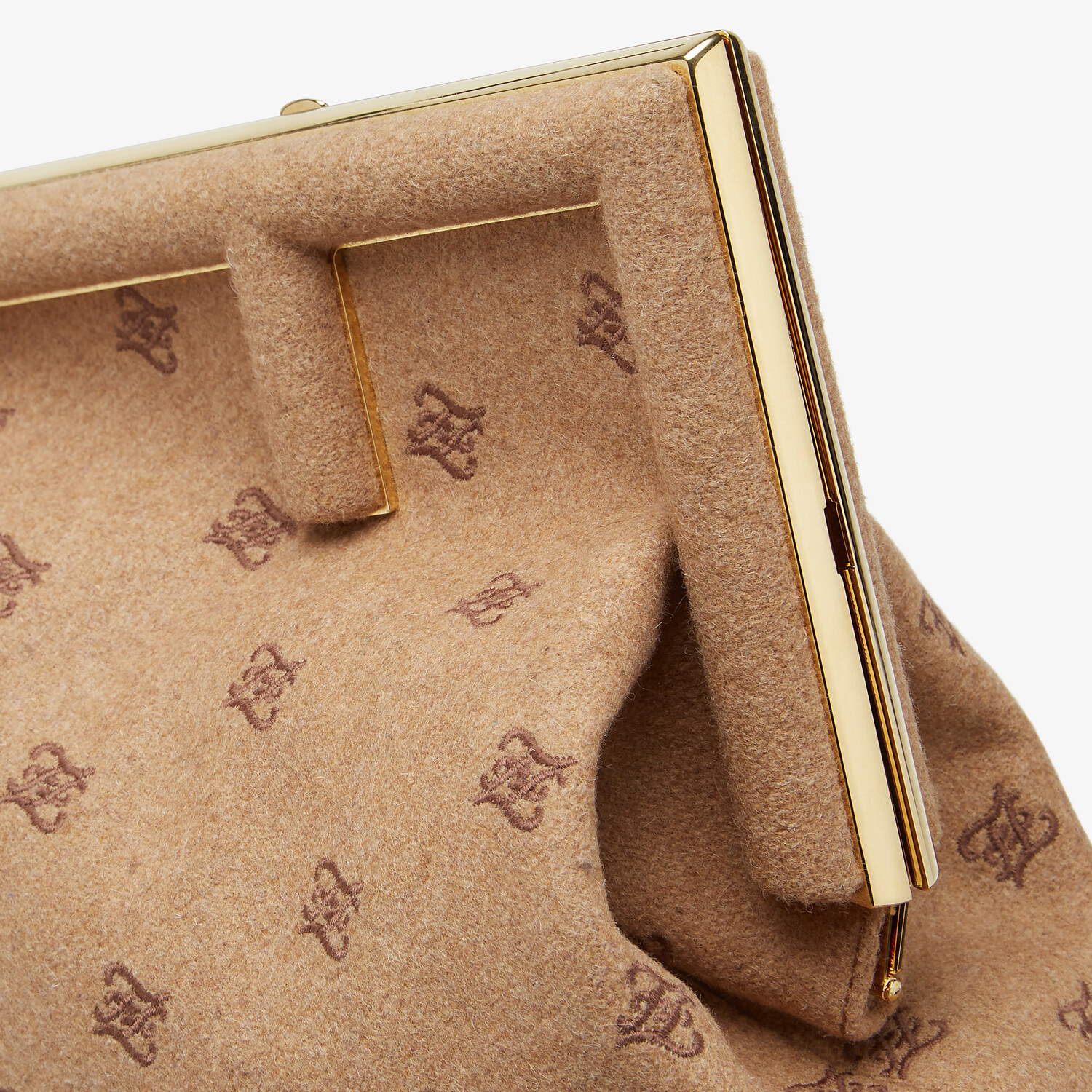 FENDI FENDI FIRST MEDIUM - Beige flannel bag with embroidery - view 6 detail