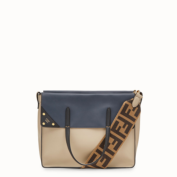 FENDI FENDI FLIP REGULAR - Beige leather bag - view 1 small thumbnail