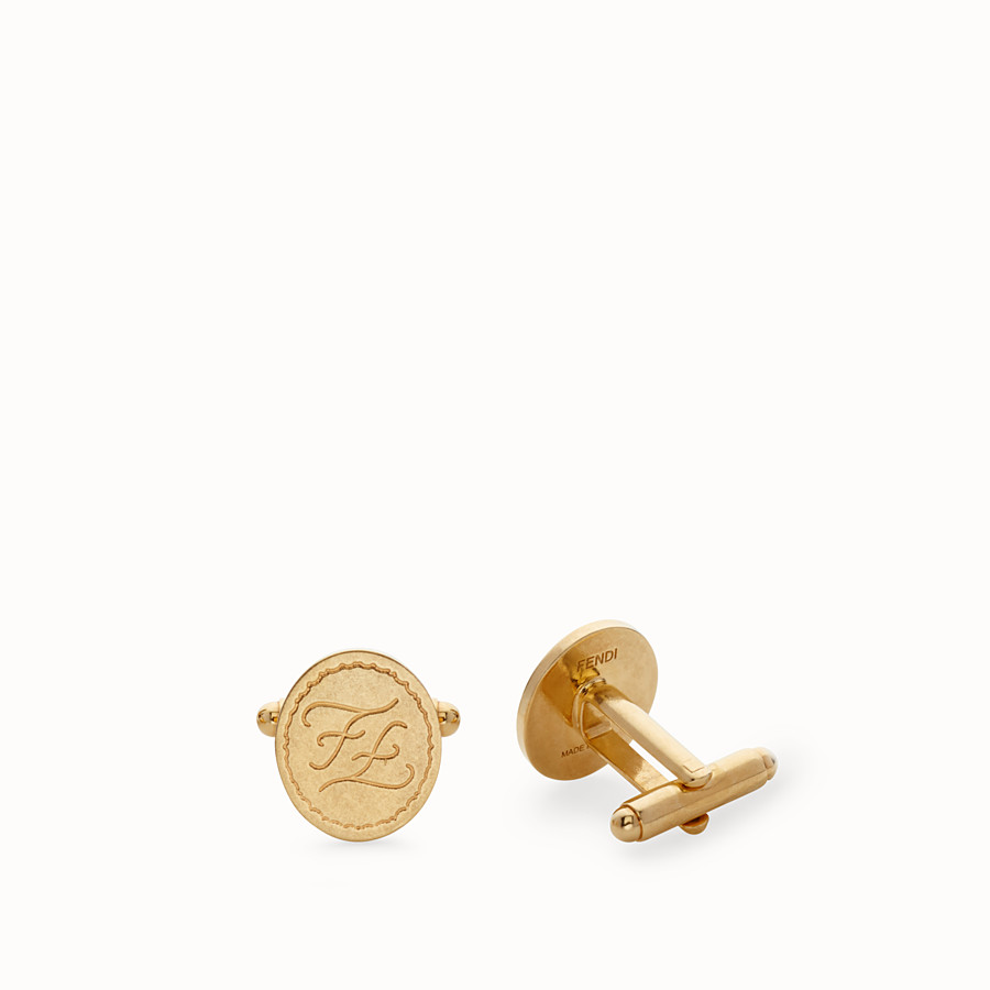 FENDI CUFFLINKS - Golden metal cufflinks - view 1 detail