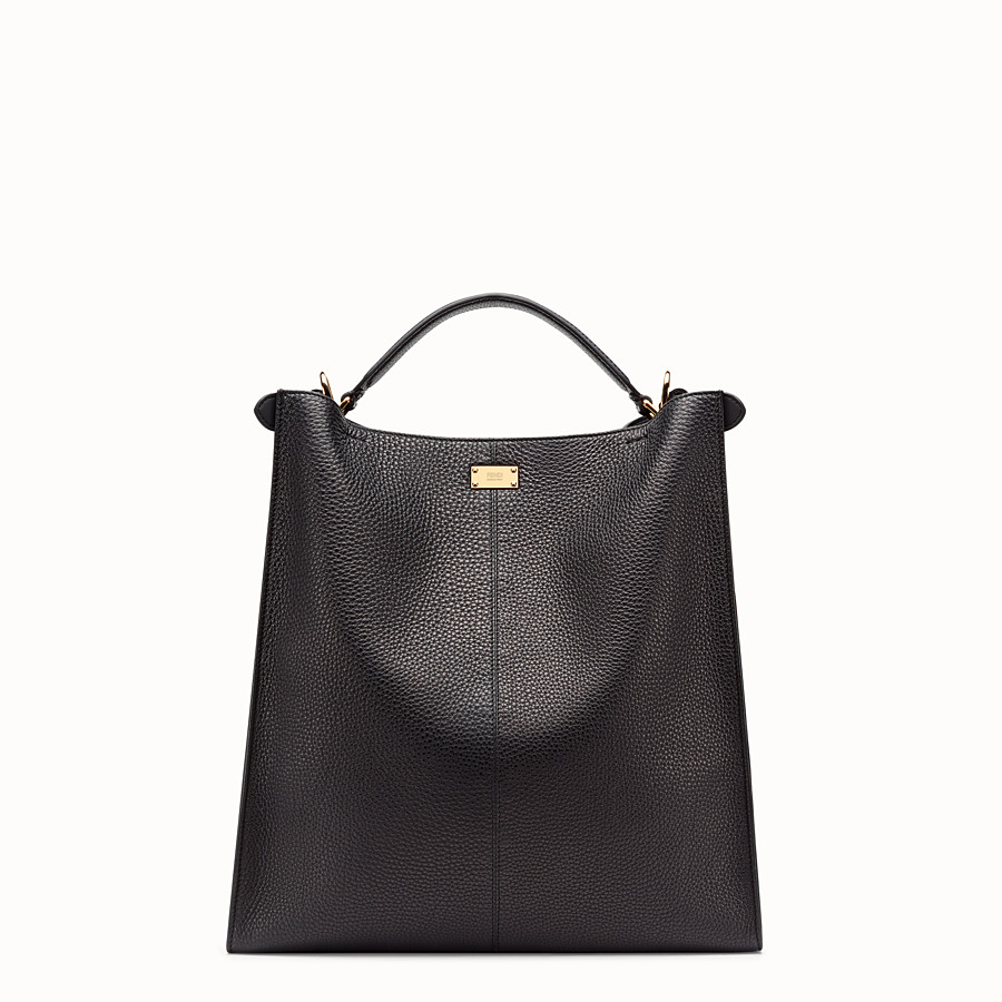 FENDI PEEKABOO X-LITE FIT - Sac en cuir romain noir - view 4 detail