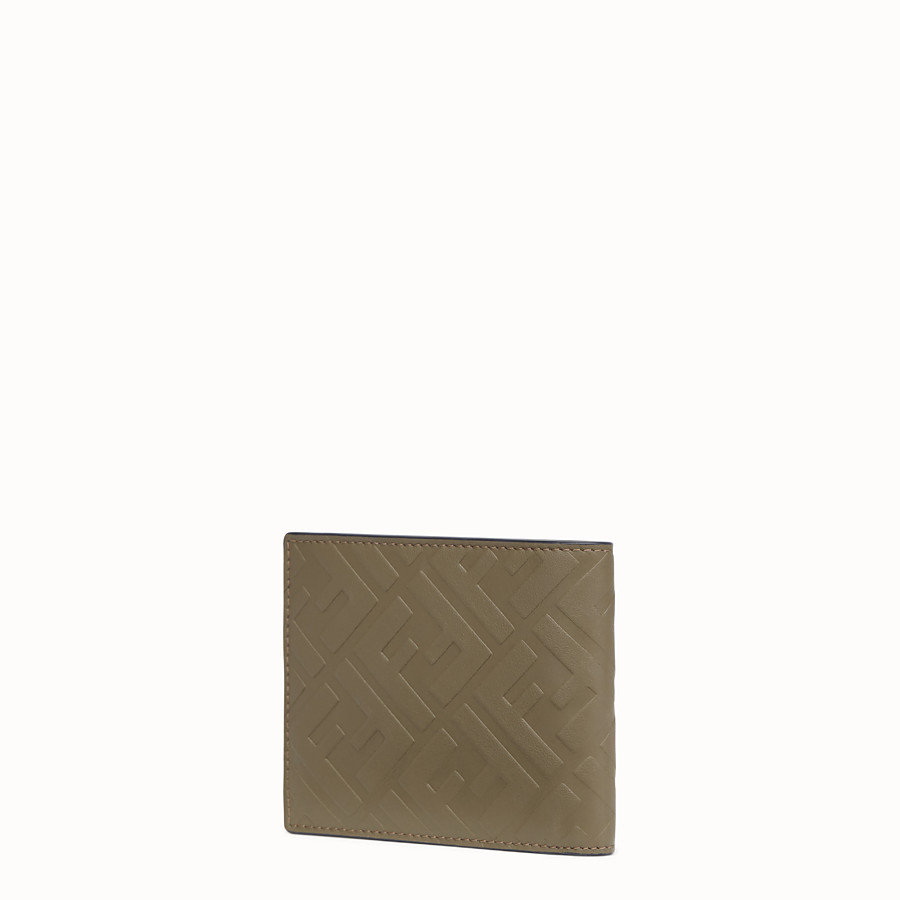 FENDI WALLET - Brown leather bi-fold wallet - view 2 detail