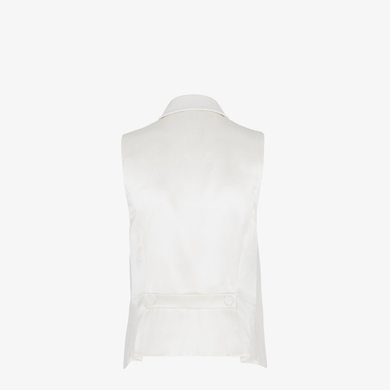 FENDI VEST - White linen vest - view 2 detail